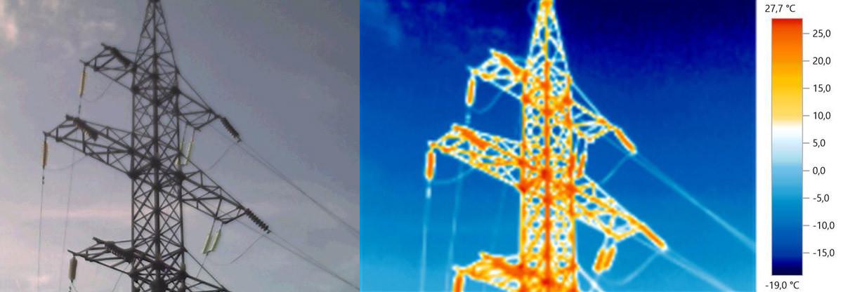 Тепловизионное обследование воздушных линий электропередач